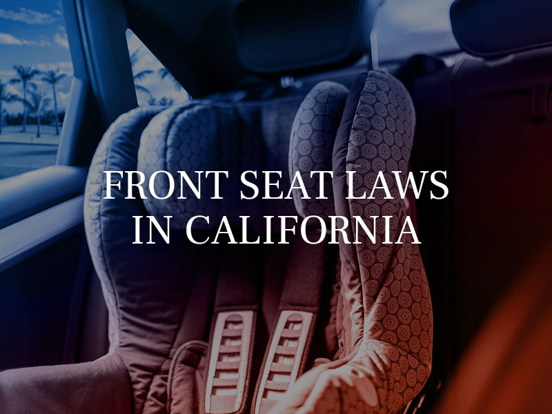 Front Seat Laws in California