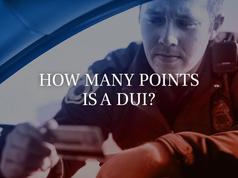 How many points is a DUI?